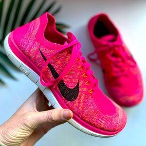 Women's NIKE FREE 4.0 FLYKNIT Running Shoes Pink